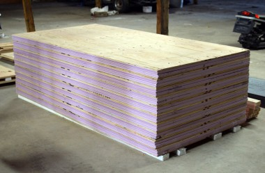 Stack of completed C.I Panels