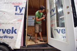 Installing our front door