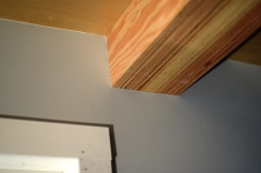 loft beam to wall detail