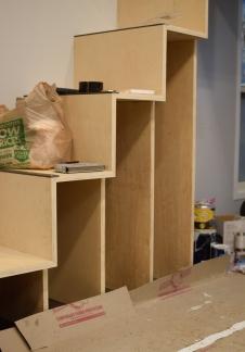 Under stair storage progress