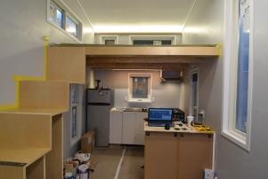 N beam lighting and range hood are installed!