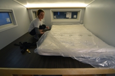 "The mattress is in place and ""puffing up"" for the next 72 hours!"