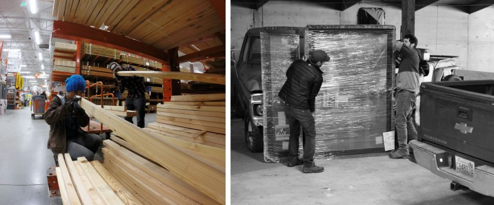 picking out our lumber and our window order.