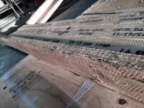 What the Laminate Veneer Lumber loft beams looked like upon pick-up