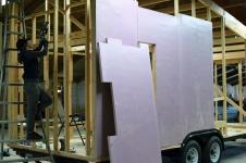 Installing our C.I. Panel Sheathing