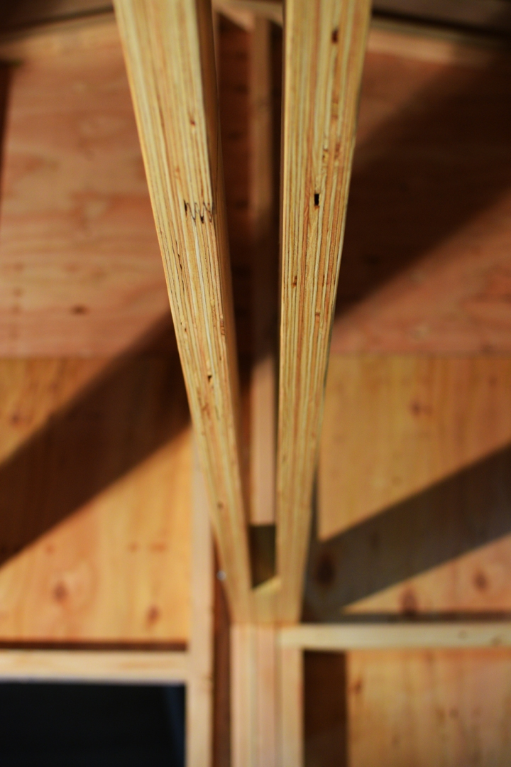 Exposed Liminated Veneer Lumber Loft Beam