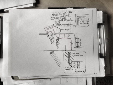 Staisr and railing Bracket sketches
