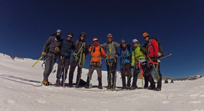 In Mt Rainier's summit Crater