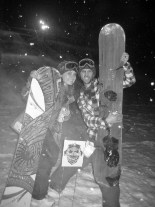 That time we won two snowboards!