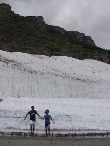 July Snow Wall