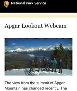 Look who photobombed a Glacier National Park Webcam!