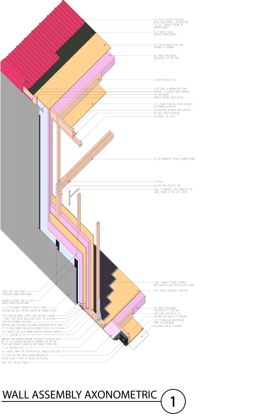 WALL ASSEMBLY AXONOMETRIC COLOR