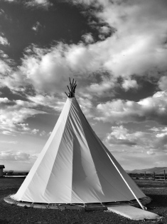 Teepee accomodations. May, 2016