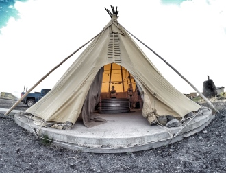 Teepee Accommodations. May, 2016