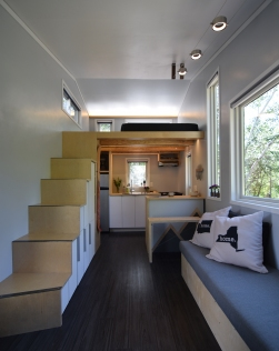 shed tiny house. View From The Bathroom Door Into Living Space. Shed Tiny House I