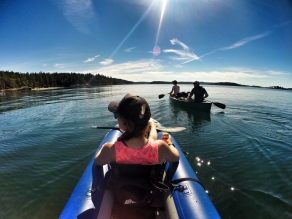 Kayaking to Jones Island, WA June 2016