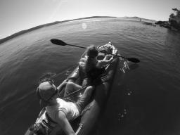 Kayaking to Jones Island, WA June 2016