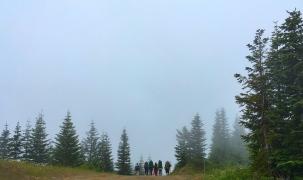 Leaving High Hut, WA July 2016