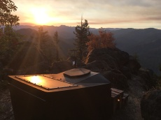 Best. Toilet.Ever. at sunrise in Oregon, August 2016